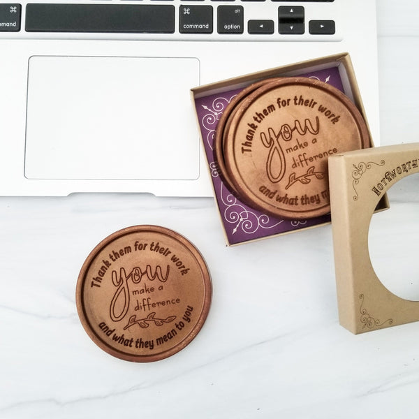 Noteworthy Chocolates Greetings You Make A Difference Personalized Chocolate Medallions - Box of 3