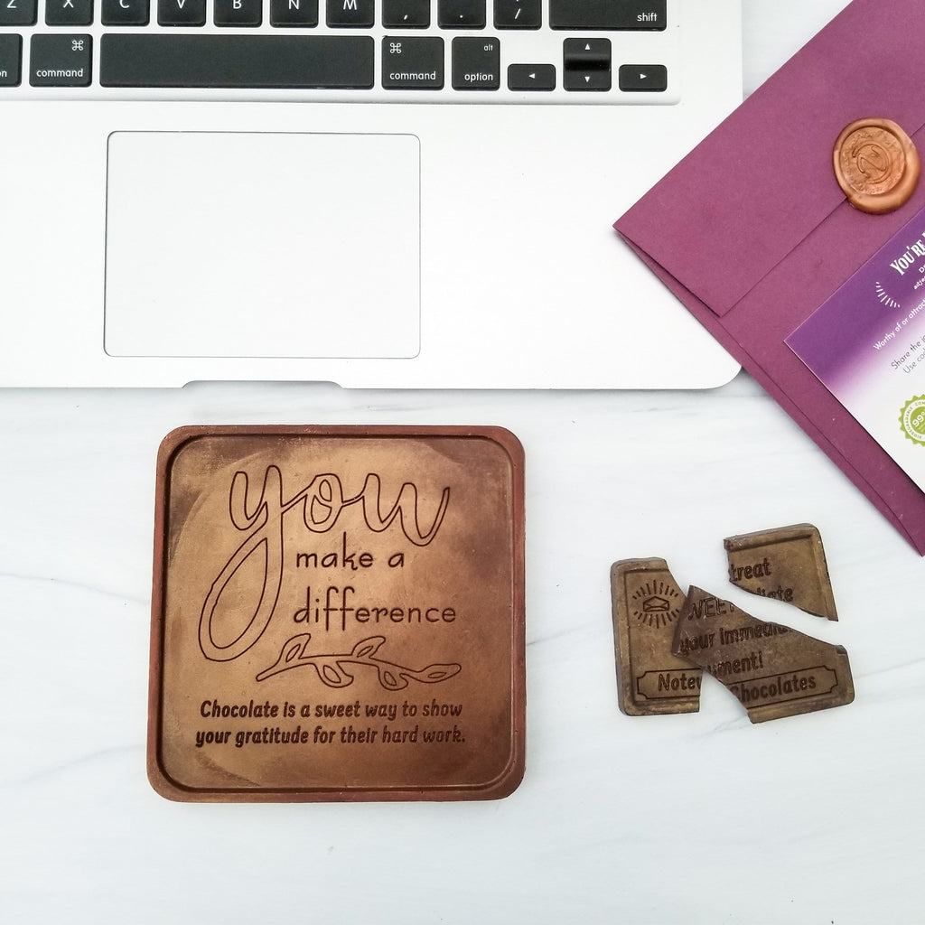You Make A Difference Personalized Chocolate Note