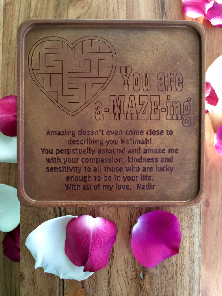 a-MAZE-ing Heart Chocolate Card