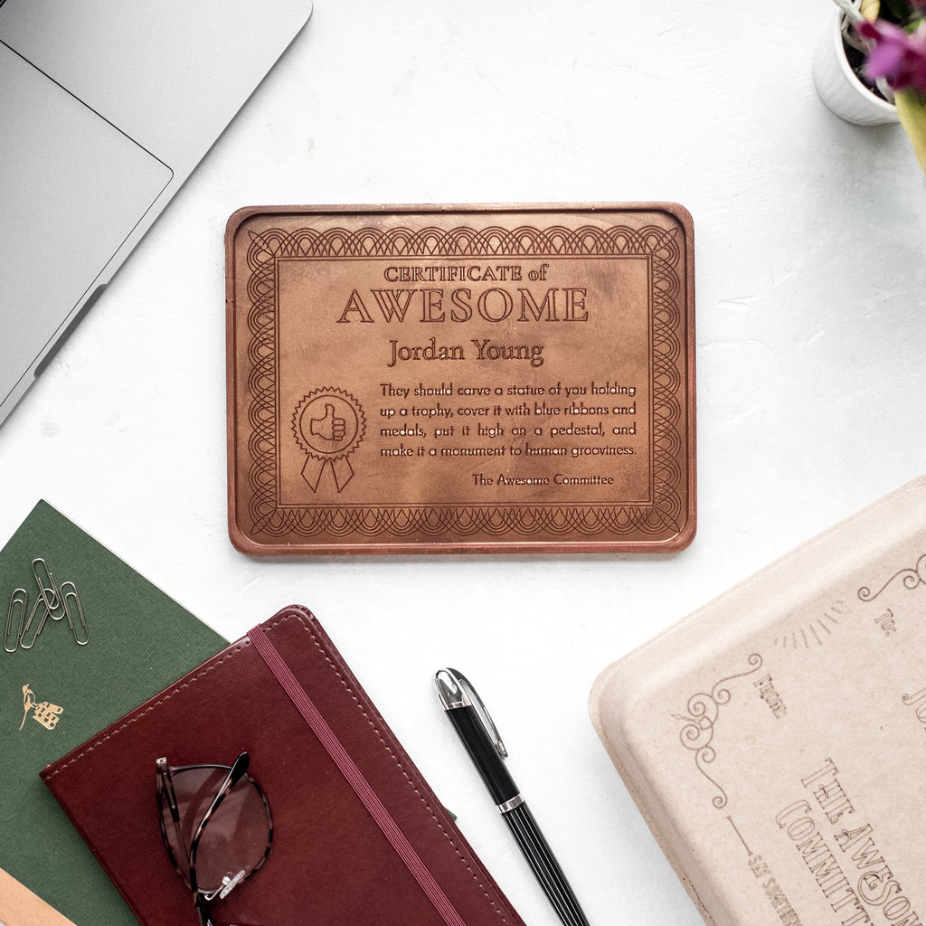Personalized Chocolate Certificate of Awesome