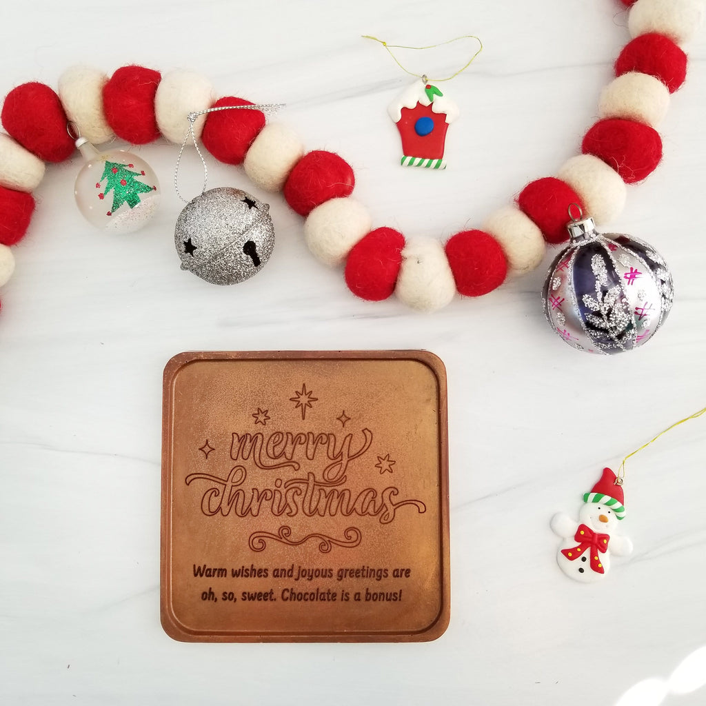 Noteworthy Chocolates Greetings Merry Christmas Personalized Chocolate Note Personalized