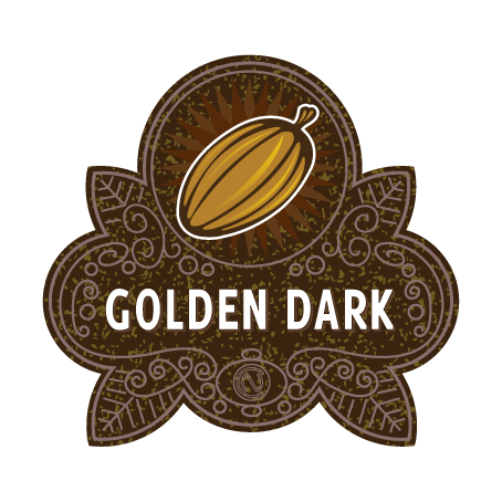 Golden Dark Chocolate Badge