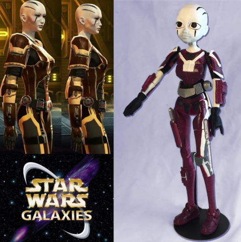 Custom 3D Printed Quin Star Wars RPG Character