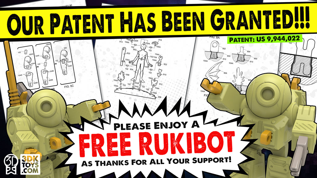 FREE RukiBot toy robot 3D model file