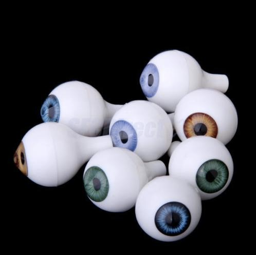 12mm Doll Eyes - Good For Quin, The 3D-Printable Doll