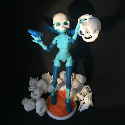 Quin with Skull Mask and Parody Skull Master Set by 3DKitbash on IG
