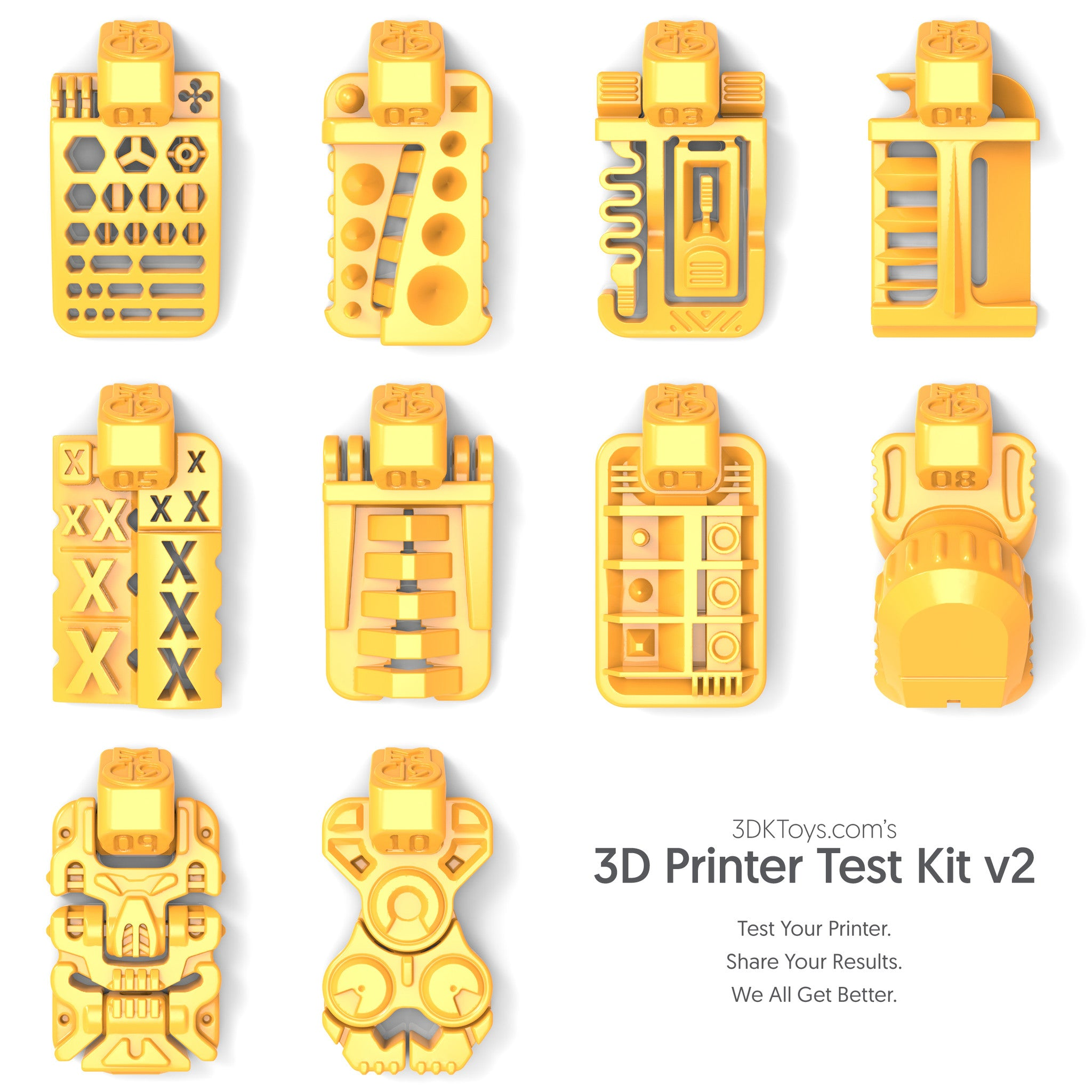 3D Printer Test Kit 2.0