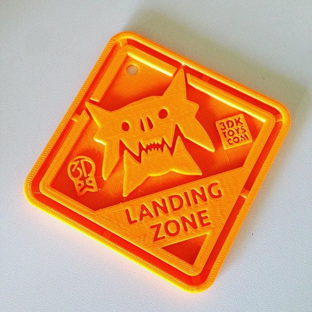 Monster Landing Zone Plaque