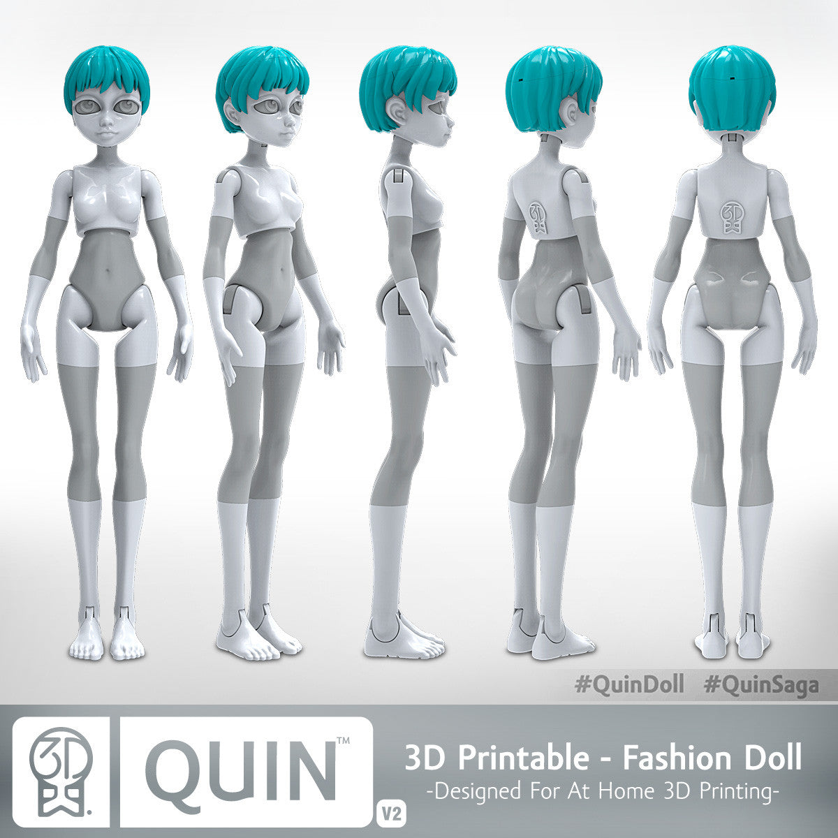 Quin, The 3D-Printable Doll