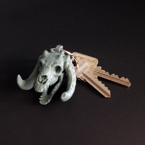'Sleeping Bag' Skull Key Chain
