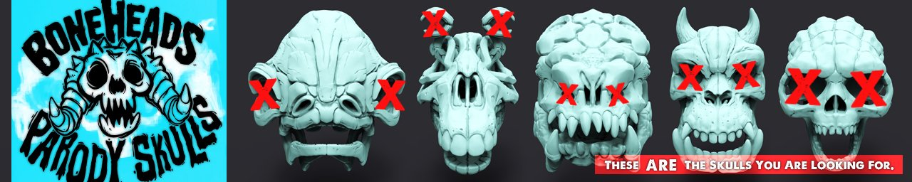 Parody Skull For 3D Printing