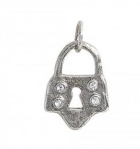 Axiom Charm - Sterling Silver - Lock