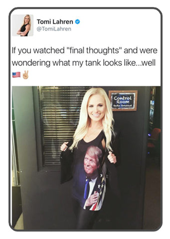 Tomi Lahren Wearing Drunk America Trump Shirt