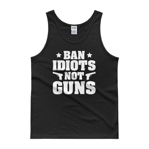 Black / S Ban Idiots Not Guns Tank Top