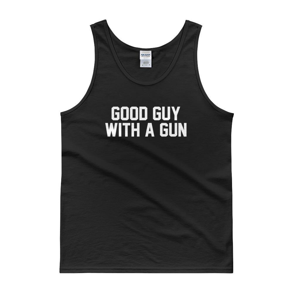 Good Guy with a Gun Tank Top - drunkamerica.com