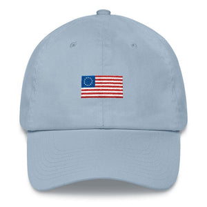 13 Colonies Flag Dad Hat - drunkamerica.com