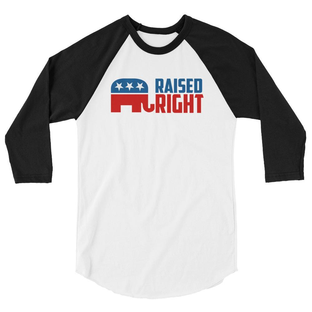 White/Black / XS Raised Right Raglan