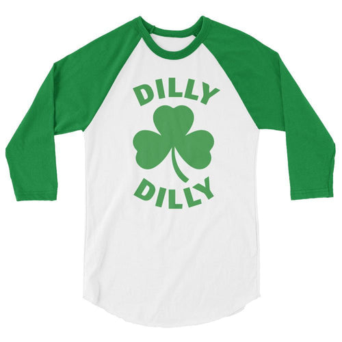 White/Kelly / XS Dilly Dilly Raglan