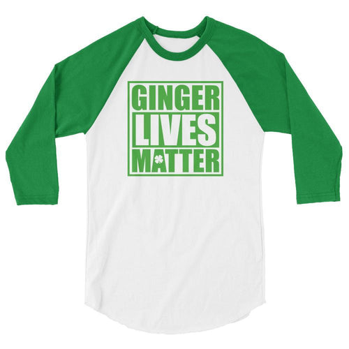 White/Kelly / XS Ginger Lives Matter Raglan