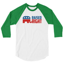 White/Kelly / XS Raised Right Raglan