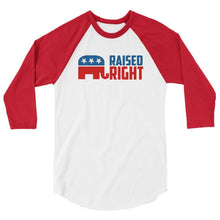 White/Red / XS Raised Right Raglan