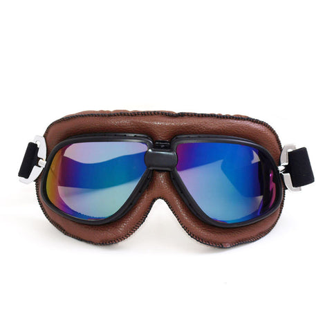 Classic Leather Motorcycle Goggles