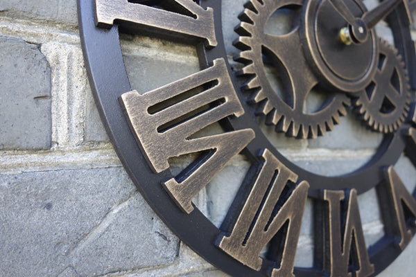 Retro Big Gear Wall Clock
