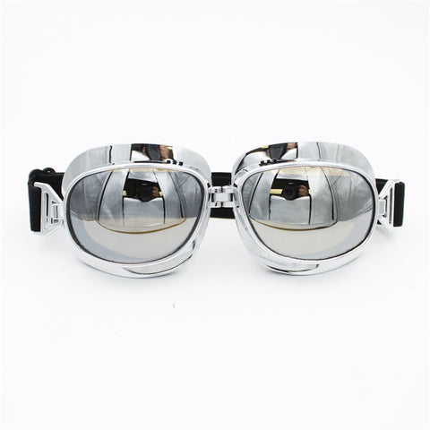 Vintage Aviator Style Motorcycle Goggles