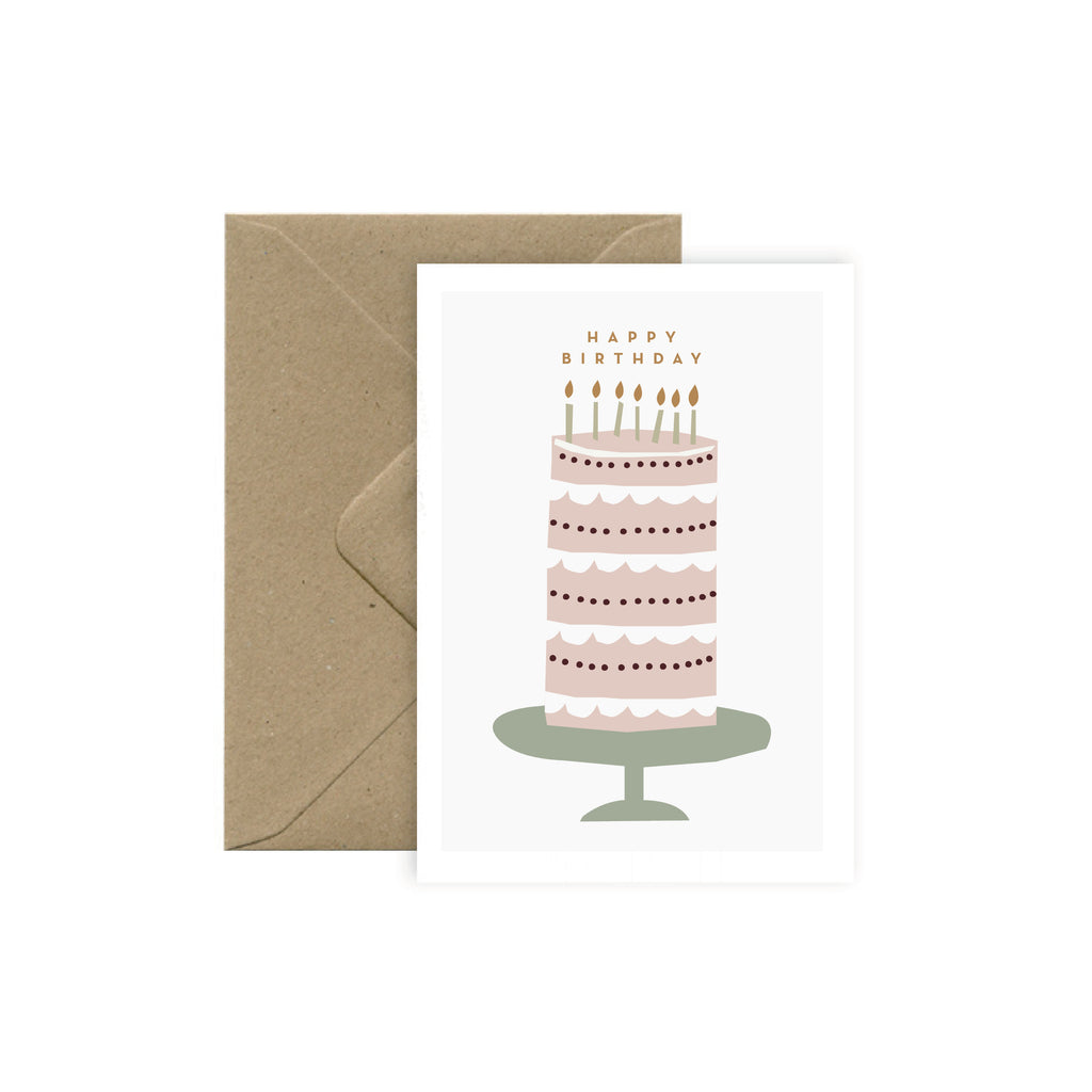 "Carte Anniversaire ""Big Birthday Cake"""