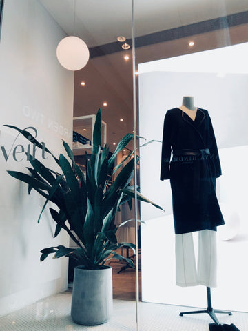 Movers & Cashmere - Vein window display