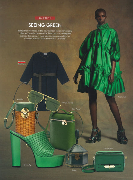 Hong Kong Tatler -  Movers & Cashmere - Trend All things Green