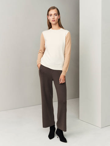 The Structured Trousers - Dark Olive Brown - Movers & Cashmere