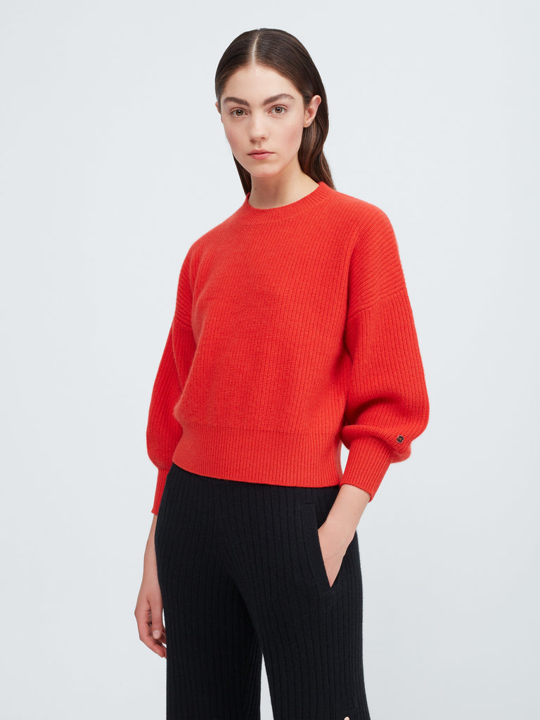 Close to you Cashmere Sweater - Poppy Red - Movers & Cashmere