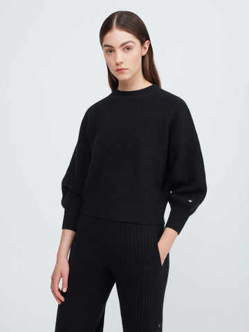 Close to you Cashmere Sweater - Black - Movers & Cashmere