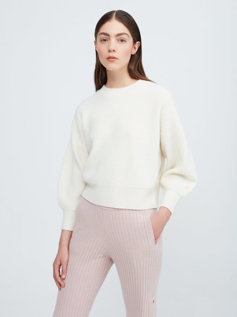 Close to you Cashmere Sweater - Winter White - Movers & Cashmere