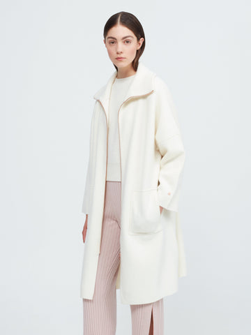 The Movers Cashmere Coat - Winter White - Movers & Cashmere