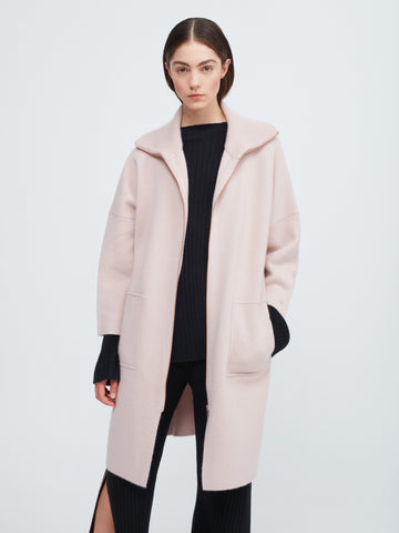 The Movers Cashmere Coat - Dusty Pink - Movers & Cashmere