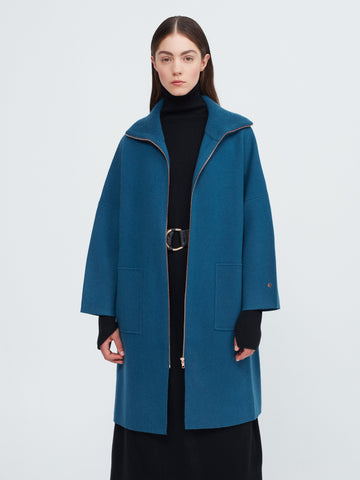 The Movers Cashmere Coat - Island Blue - Movers & Cashmere