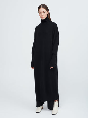 In the Moment Turtleneck Dress - Black - Movers & Cashmere