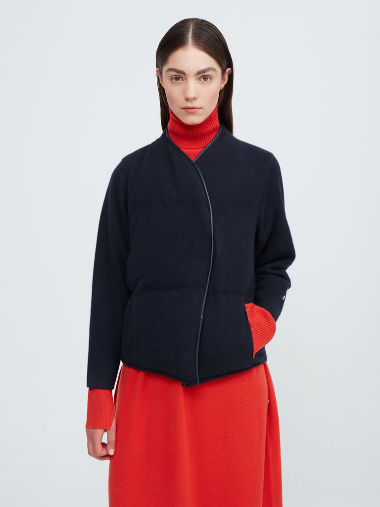 Top-to-Top Cashmere Down Jacket - Dark Navy - Movers & Cashmere