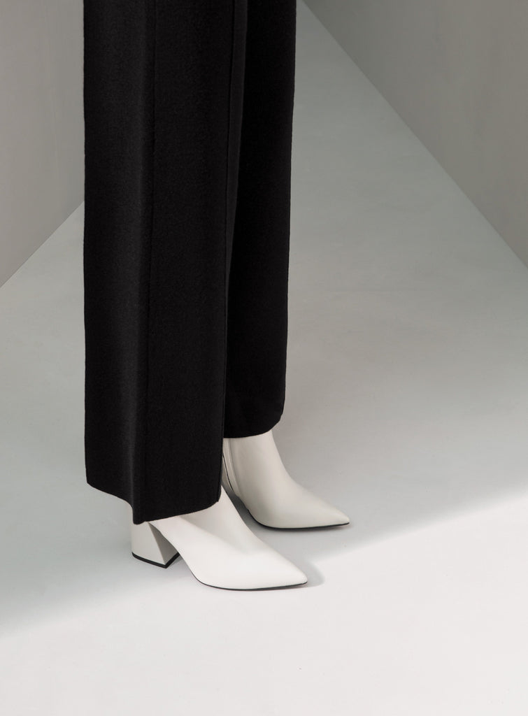 The Structured Trousers - Black - Movers & Cashmere