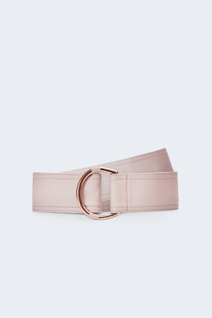 Center-in Rose Gold Leather Belt - Rose - Movers & Cashmere