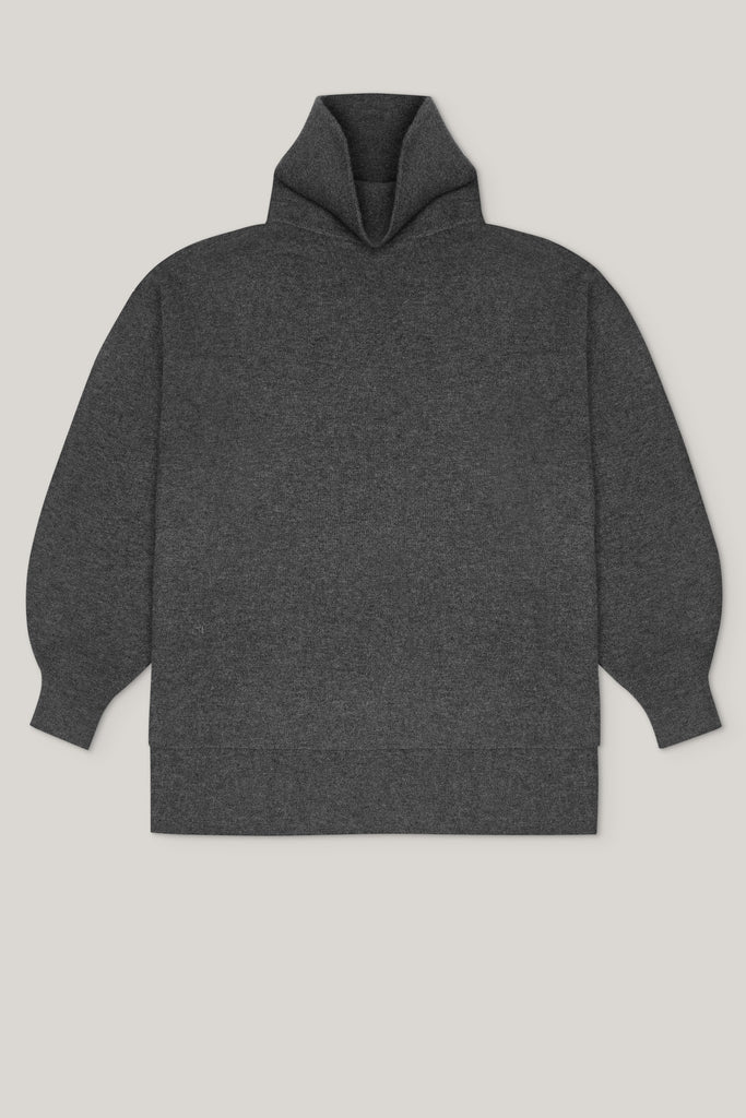 [ECO Cashmere] In the Form Eco-Cashmere Turtleneck Sweater - Dark Grey - Movers & Cashmere
