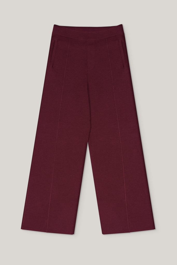 The Structured Trousers - Autumn Burgundy - Movers & Cashmere