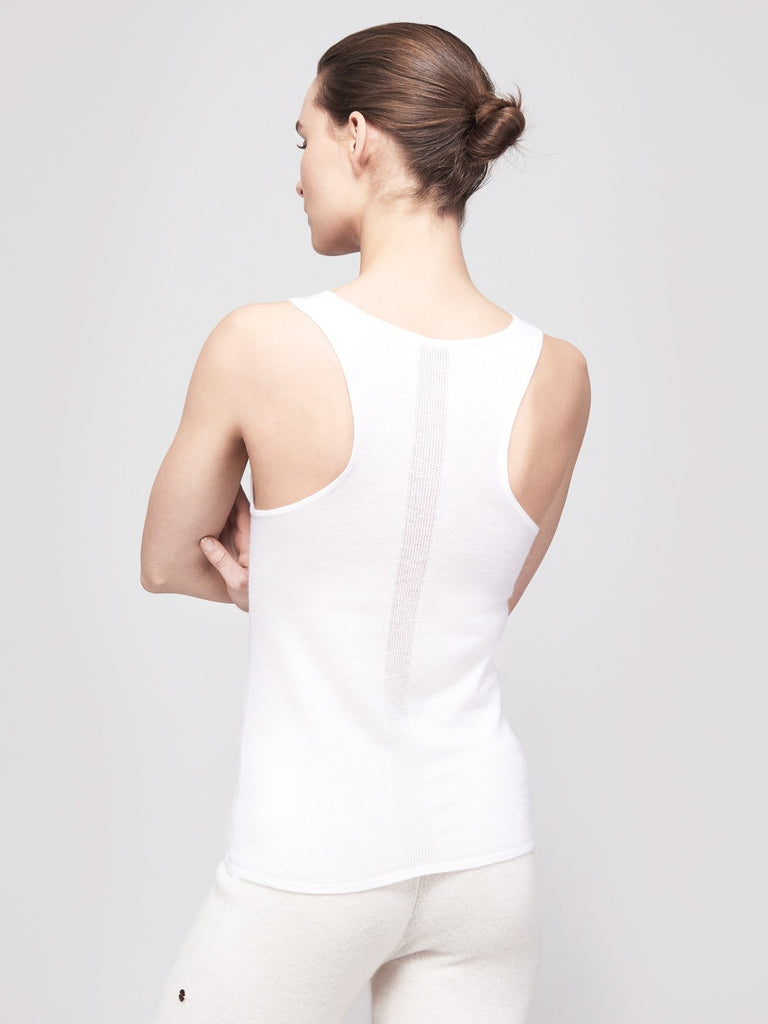 Mover-Breather Cashmere Tank - Winter White - Movers & Cashmere