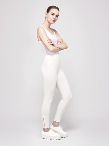 Go-Getter Cashmere Leggings - Winter White - Movers & Cashmere