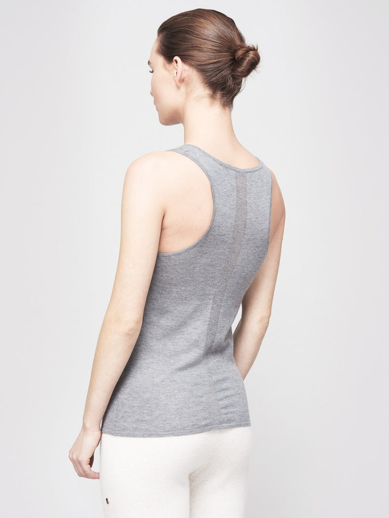 Mover-Breather Cashmere Tank - Grey Flannel - Movers & Cashmere