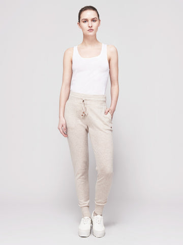Go-Getter Cashmere Track Pants - Rosie Pastel Tau - Movers & Cashmere