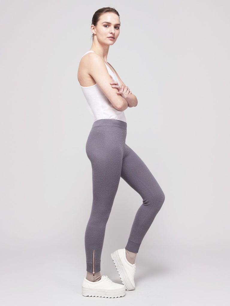 Go-Getter Cashmere Leggings - Noir Jet Grey - Movers & Cashmere