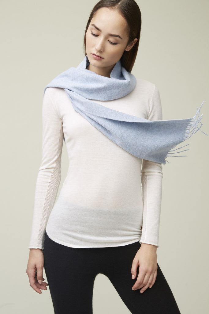 Cashmere Scarf - Vintage Blue [Seasonal Delight] - Movers & Cashmere